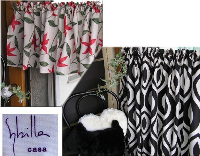 Sybilla(シビラ)『カフェカーテン』 バスルームの目隠しにも利用出来る